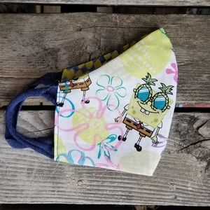 Spongebob Pineapple Face Mask handmade